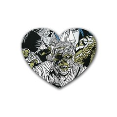 The Monster Squad Rubber Coaster (heart)  by BangZart