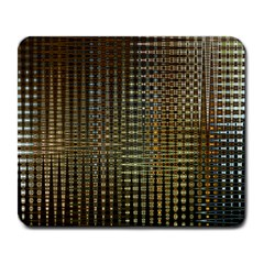 Background Colors Of Green And Gold In A Wave Form Large Mousepads