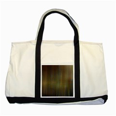 Background Colors Of Green And Gold In A Wave Form Two Tone Tote Bag