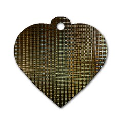 Background Colors Of Green And Gold In A Wave Form Dog Tag Heart (one Side) by BangZart
