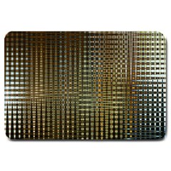 Background Colors Of Green And Gold In A Wave Form Large Doormat  by BangZart