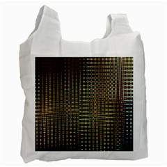 Background Colors Of Green And Gold In A Wave Form Recycle Bag (two Side)