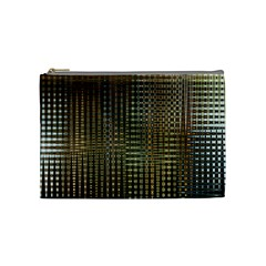 Background Colors Of Green And Gold In A Wave Form Cosmetic Bag (medium)  by BangZart