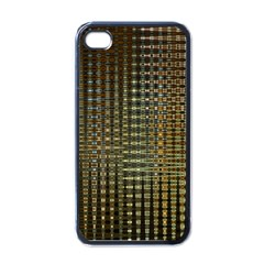 Background Colors Of Green And Gold In A Wave Form Apple Iphone 4 Case (black) by BangZart