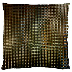 Background Colors Of Green And Gold In A Wave Form Large Cushion Case (two Sides) by BangZart