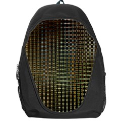 Background Colors Of Green And Gold In A Wave Form Backpack Bag by BangZart