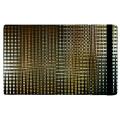Background Colors Of Green And Gold In A Wave Form Apple Ipad 2 Flip Case by BangZart