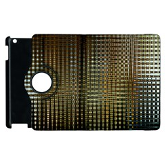 Background Colors Of Green And Gold In A Wave Form Apple Ipad 3/4 Flip 360 Case by BangZart
