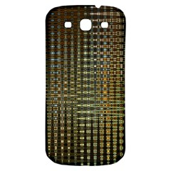 Background Colors Of Green And Gold In A Wave Form Samsung Galaxy S3 S Iii Classic Hardshell Back Case by BangZart