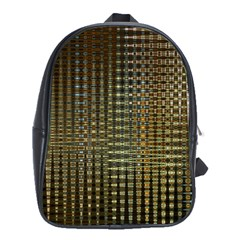 Background Colors Of Green And Gold In A Wave Form School Bags (xl)  by BangZart