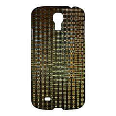 Background Colors Of Green And Gold In A Wave Form Samsung Galaxy S4 I9500/i9505 Hardshell Case by BangZart