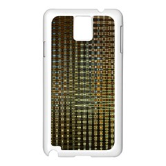 Background Colors Of Green And Gold In A Wave Form Samsung Galaxy Note 3 N9005 Case (white) by BangZart