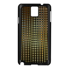 Background Colors Of Green And Gold In A Wave Form Samsung Galaxy Note 3 N9005 Case (black)