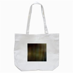Background Colors Of Green And Gold In A Wave Form Tote Bag (white) by BangZart
