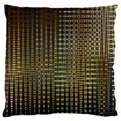 Background Colors Of Green And Gold In A Wave Form Standard Flano Cushion Case (one Side) by BangZart