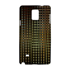 Background Colors Of Green And Gold In A Wave Form Samsung Galaxy Note 4 Hardshell Case by BangZart