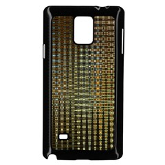 Background Colors Of Green And Gold In A Wave Form Samsung Galaxy Note 4 Case (black) by BangZart