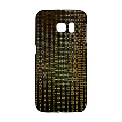 Background Colors Of Green And Gold In A Wave Form Galaxy S6 Edge by BangZart