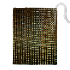 Background Colors Of Green And Gold In A Wave Form Drawstring Pouches (xxl) by BangZart