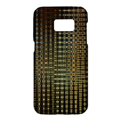 Background Colors Of Green And Gold In A Wave Form Samsung Galaxy S7 Hardshell Case