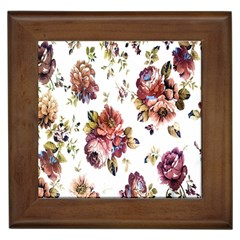Texture Pattern Fabric Design Framed Tiles