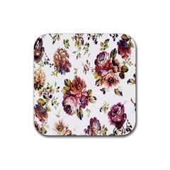 Texture Pattern Fabric Design Rubber Coaster (square)