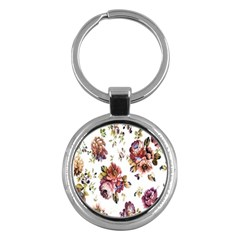 Texture Pattern Fabric Design Key Chains (round)  by BangZart