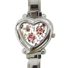 Texture Pattern Fabric Design Heart Italian Charm Watch by BangZart