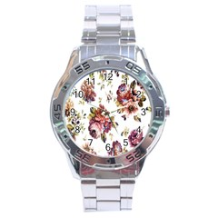 Texture Pattern Fabric Design Stainless Steel Analogue Watch by BangZart
