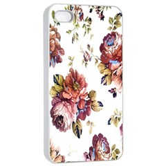 Texture Pattern Fabric Design Apple Iphone 4/4s Seamless Case (white) by BangZart