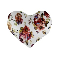 Texture Pattern Fabric Design Standard 16  Premium Heart Shape Cushions by BangZart