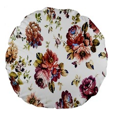 Texture Pattern Fabric Design Large 18  Premium Flano Round Cushions by BangZart