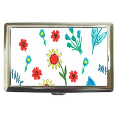 Flowers Fabric Design Cigarette Money Cases by BangZart