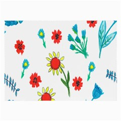 Flowers Fabric Design Large Glasses Cloth by BangZart