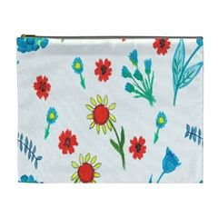 Flowers Fabric Design Cosmetic Bag (xl)