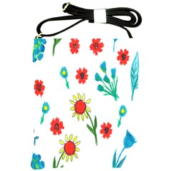Flowers Fabric Design Shoulder Sling Bags by BangZart