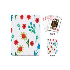 Flowers Fabric Design Playing Cards (mini)