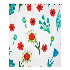Flowers Fabric Design Shower Curtain 60  X 72  (medium)