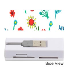 Flowers Fabric Design Memory Card Reader (stick)