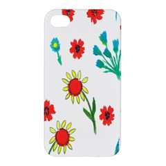 Flowers Fabric Design Apple Iphone 4/4s Hardshell Case by BangZart