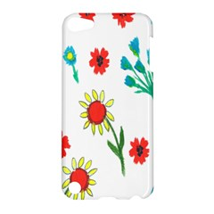 Flowers Fabric Design Apple Ipod Touch 5 Hardshell Case by BangZart