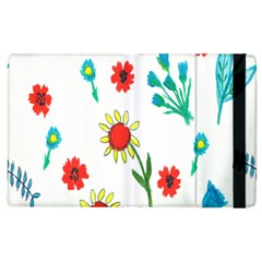 Flowers Fabric Design Apple Ipad 3/4 Flip Case