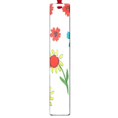 Flowers Fabric Design Large Book Marks