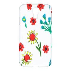 Flowers Fabric Design Samsung Galaxy S4 I9500/i9505 Hardshell Case