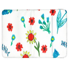 Flowers Fabric Design Samsung Galaxy Tab 7  P1000 Flip Case