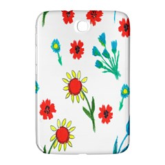 Flowers Fabric Design Samsung Galaxy Note 8 0 N5100 Hardshell Case  by BangZart