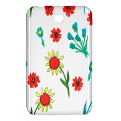Flowers Fabric Design Samsung Galaxy Tab 3 (7 ) P3200 Hardshell Case