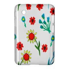 Flowers Fabric Design Samsung Galaxy Tab 2 (7 ) P3100 Hardshell Case