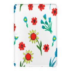 Flowers Fabric Design Samsung Galaxy Tab Pro 10 1 Hardshell Case by BangZart