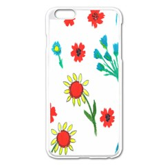 Flowers Fabric Design Apple Iphone 6 Plus/6s Plus Enamel White Case by BangZart